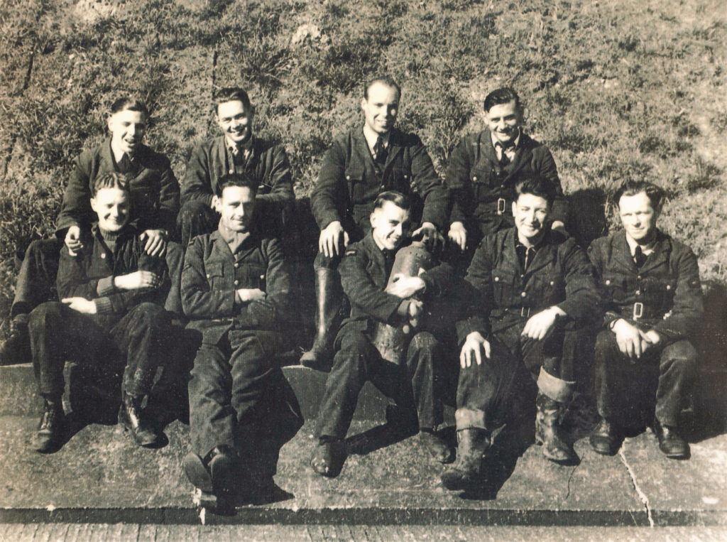 222 squadron ground crew sitting at dispersal on the aerodrome at Hornchurch 1940.