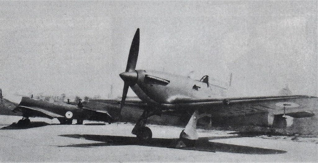 A Mk1 two bladed Hawker Hurricane aircraft