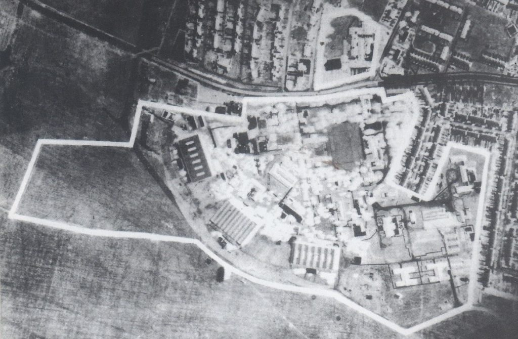 An aerial view of the aerodrome taken during 1938