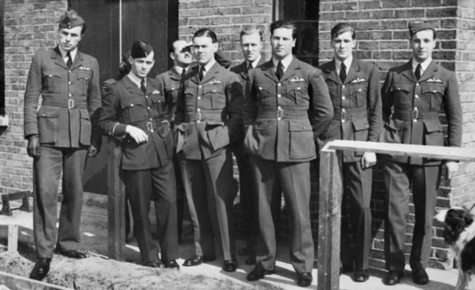 An informal group shot of 65 squadron pilots at Hornchurch in 1939.