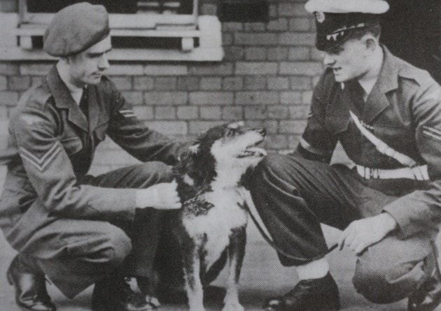Corporal Lennon and again seen with Binder, Paddy Finucane's dog