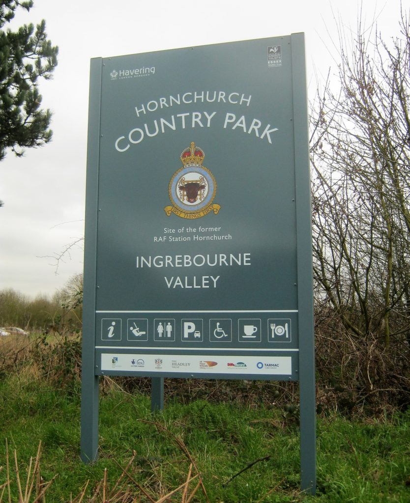 Country Park Main Entrance Sign