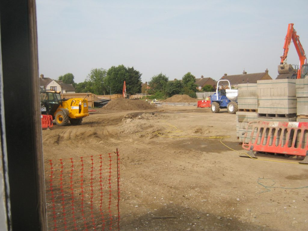 New development behind the former RAF houses
