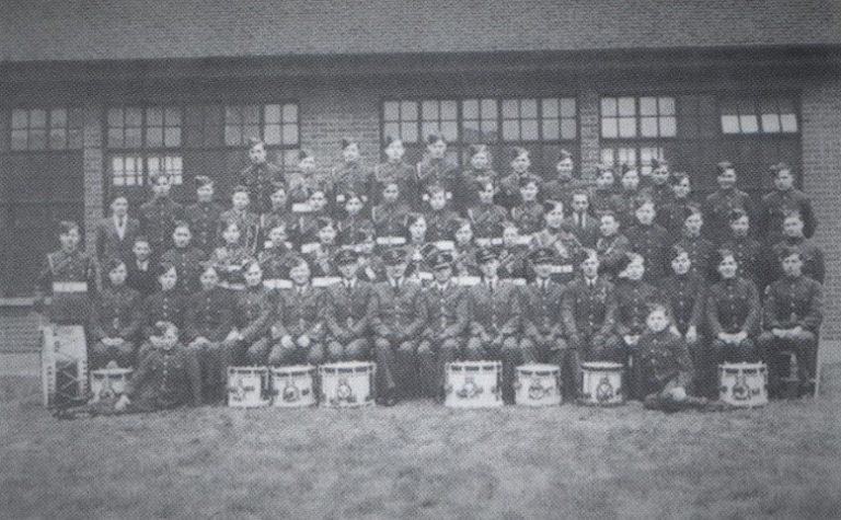 Officers and cadets from 2048 Dagenham Air Training Corps