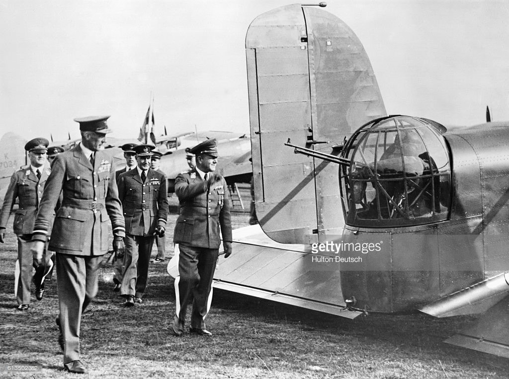 The German delegation with RAF Officers at Mildenhall