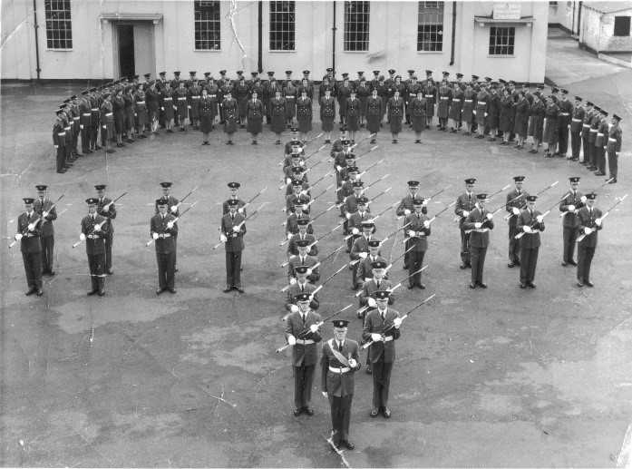 The Recruits Advanced Drill Unit, circa 1950