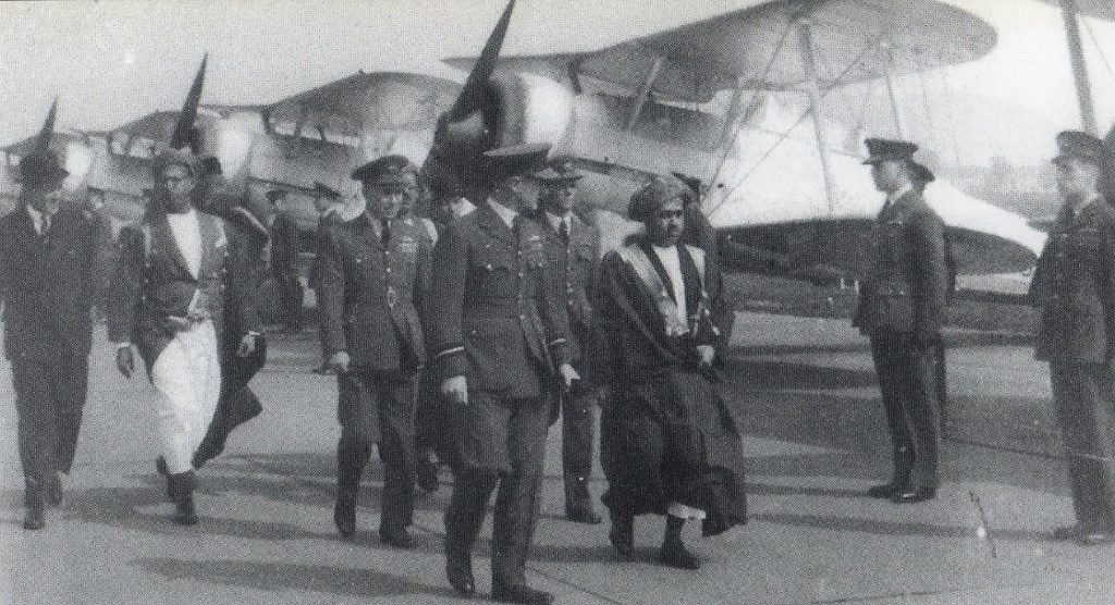 The Sultan of Muscat visited RAF Hornchurch
